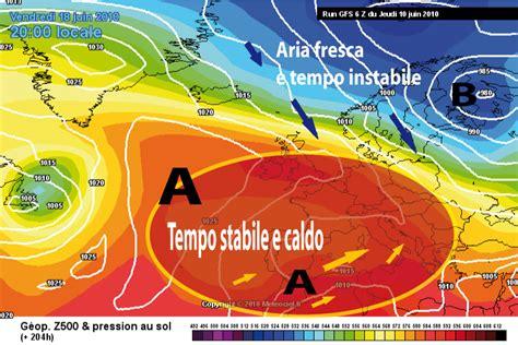 lade alta e bassa pressione le aree di alta e di bassa pressione