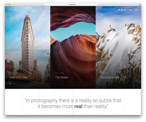 26 Best Stunning Free Photography Website Templates 2019 Best Photography Website Templates
