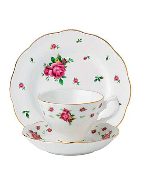 Teacup New Country royal albert china new country roses white 3 set teacup saucer and dessert plate
