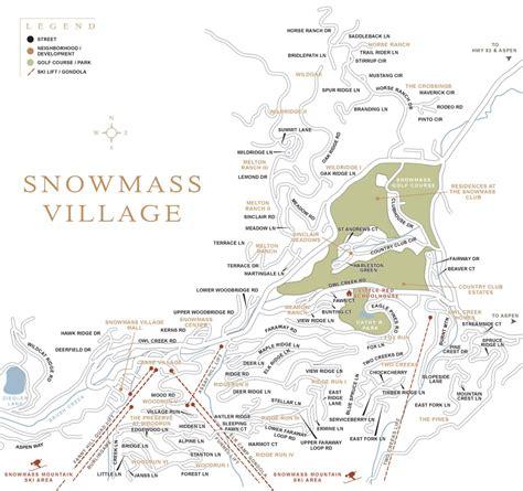 snowmass trail map snowmass colorado town map aspen snowmass real