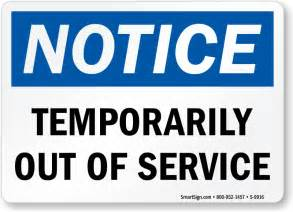 Bathroom Temporarily Out Of Service Out Of Order Signs Machine Service