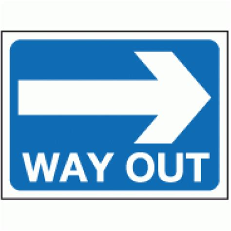 Way Out way out right sign