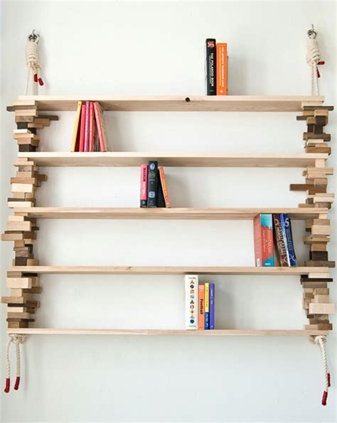 stylish bookcase cool wood shelves diy wood shelves