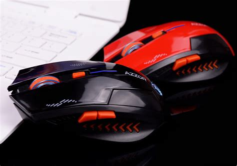 Mouse Tanpa Kabel azzor mouse gaming wireless rechargeable usb 2400 dpi 2 4g black jakartanotebook