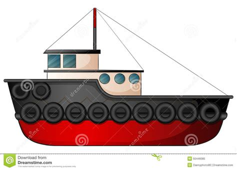 tow boat drawing tugboat stock vector image 50446085