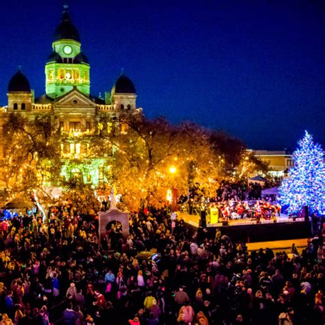 denton christmas tree lighting decoratingspecial com