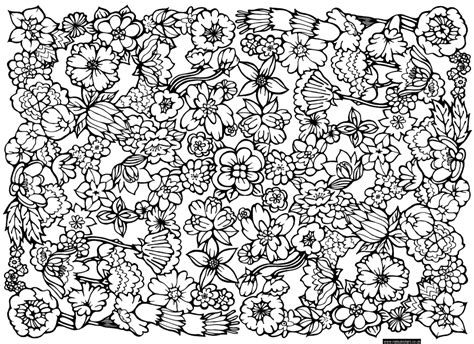 flower pattern coloring pages az coloring pages