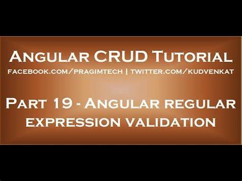 angular pattern validation not working angular regular expression validation youtube