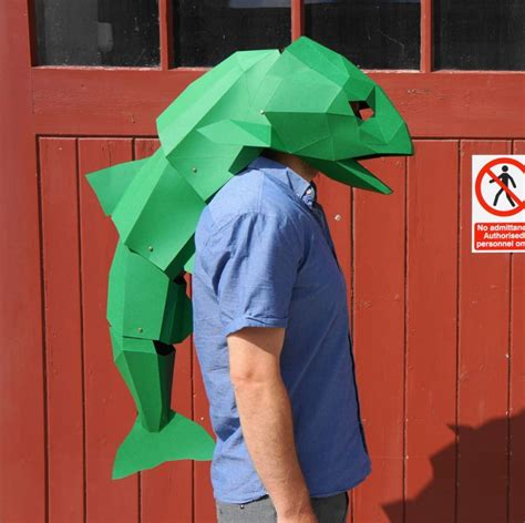Papercraft Costume - diy low poly animal masks by wintercroft papercraft