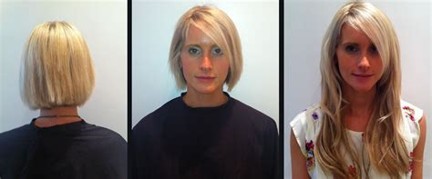 before and after clip on extensions short hair clip in hair extensions in short hair before and after