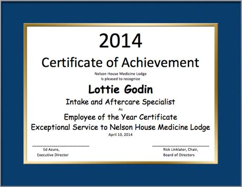 employee certificate template search results for employee of the year word certificate