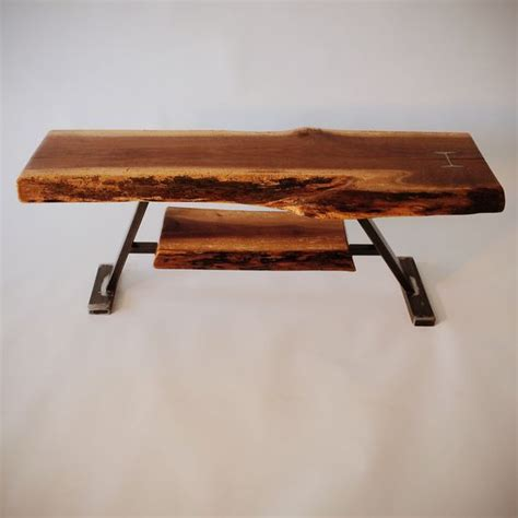 handmade black walnut live edge coffee table by boundary