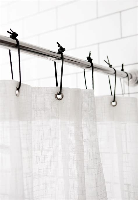 diy shower curtain hooks diy leather shower curtain rings 187 the merrythought