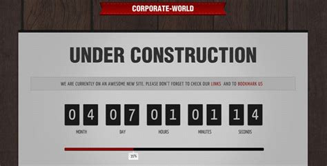 corporate world under construction by owltemplates