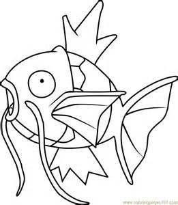 magikarp pokemon coloring free pok 233 mon coloring pages coloringpages101