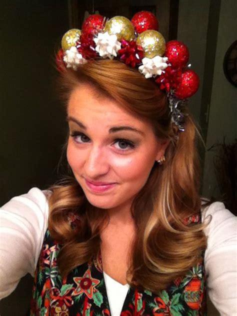ugly xmas headband tacky headband dollar store plastic ornaments tinsel and bows