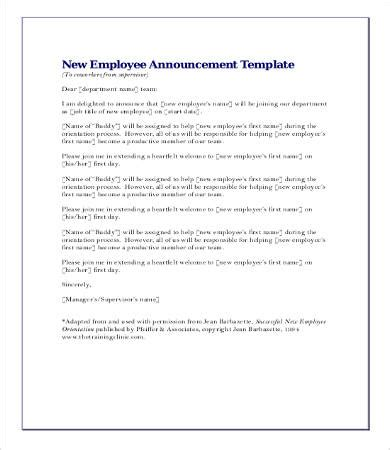 New Hire Announcement Template by Announcement Letters 9 Free Word Pdf Documents Free Premium Templates