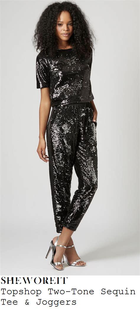 Matching Two Tone T Shirt sheworeit platt s topshop black metallic silver