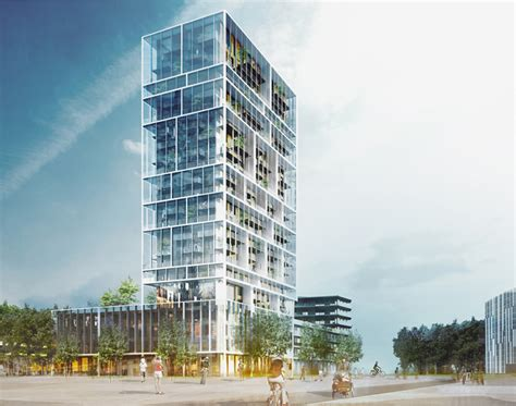 design competition belgium gridded residential tower in antwerp by c f m 248 ller and brut