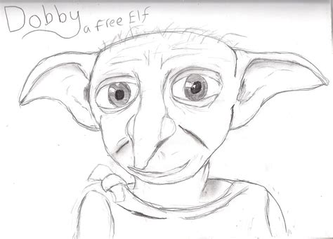 harry potter coloring pages of dobby pencil harry potter dobby coloring pages