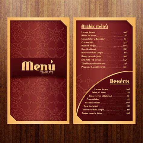 menu and business card template design coffee stock vector