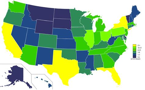 usa map with states and population file usa states population map 2011 color png wikimedia