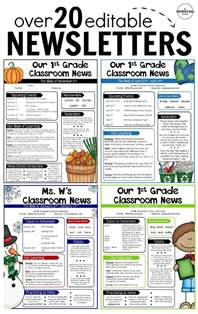 editable classroom newsletter template 25 best ideas about classroom themes on