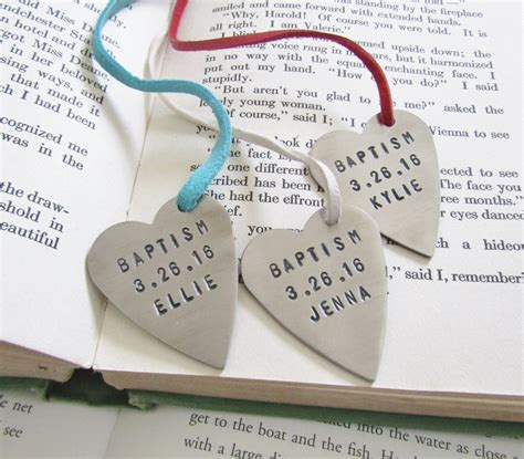 7 Beautiful Christening Gifts by Baptism Gift Baptism Favors Baptism Bookmark Personalized