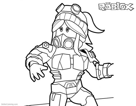 printable coloring pages roblox roblox girl coloring pages free printable coloring pages