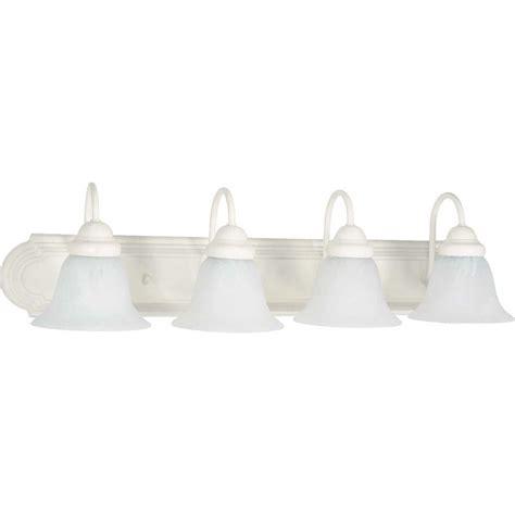 white bathroom light glomar 4 light polished chrome vanity light with alabaster