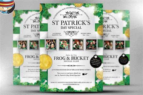 saint patrick s day party poster template vector stock vector