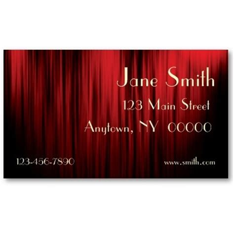 Theater Business Card Templates by 17 Best Images About Ll Business Cards On