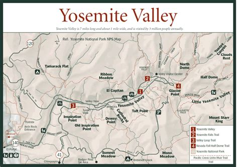 yosemite valley map sherpa guides california nevada yosemite valley map