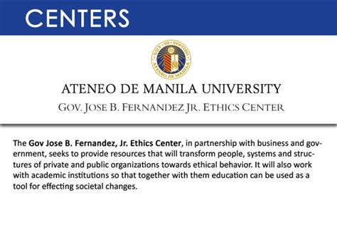 Ateneo Mba Student Log In by Centers Ateneo Graduate School Of Business