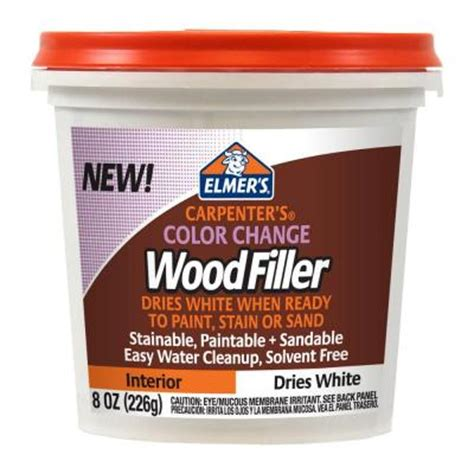 elmer s 8 oz carpenter s color change wood filler