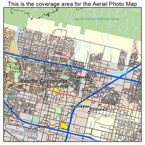 california map rancho cucamonga aerial photography map of rancho cucamonga ca california
