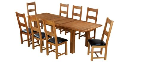 Barham Oak 180 250 Cm Extending Dining Table And 8 Chairs Oak Extending Dining Table And 8 Chairs