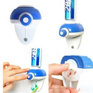 Log Home Bathroom Ideas Touch Automatic Auto Squeeze Out Toothpaste Dispenser