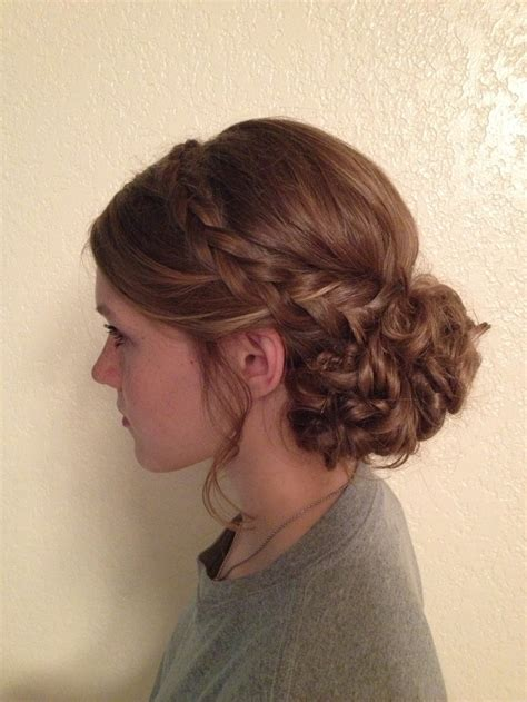 curly hairstyles with braids on the side whimsical updo braids curly poof off to the side instead