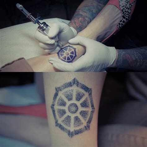 hand poked tattoo by james yelp