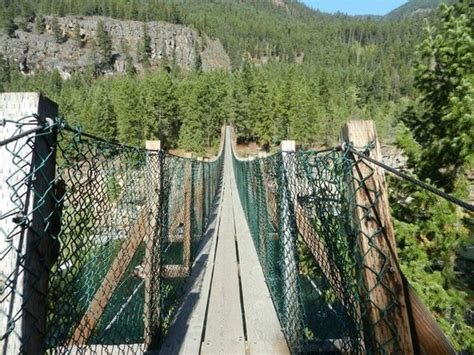 kootenai falls swinging bridge kootenai suspension bridge picture of kootenai falls