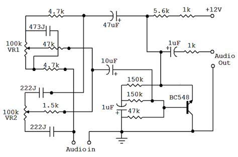 bass treble circuit diagram bass and treble controller audio equalizer circuit