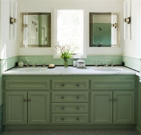 green bathroom vanity cabinet corinne gail interior design