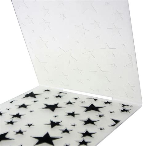 pattern paper ebay fresh stars pattern plastic embossing folders diy