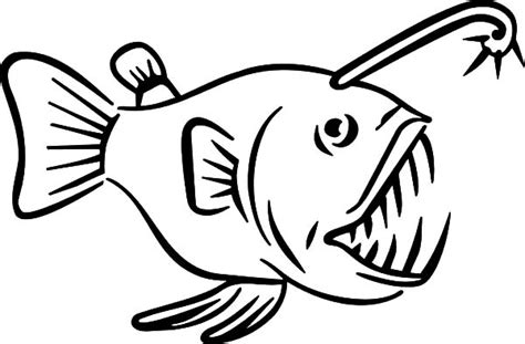 monster fish coloring pages monster fish sharp teeth coloring pages color luna