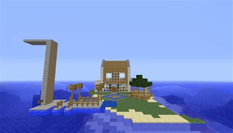 minecraft island house small island house minecraft project