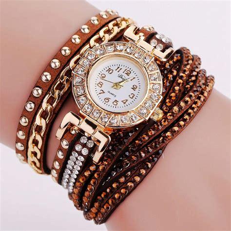 Jam Tangan Wanita Model Gelang Rhinestone Dy001 Putih Murah jam tangan wanita model gelang rhinestone dy001 white jakartanotebook