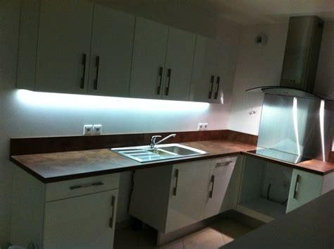 bandeau lumineux pour cuisine eclairage led plan de travail led s go