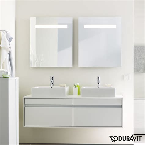 duravit bathroom mirrors duravit ketho mirror with lighting kt733000000 reuter
