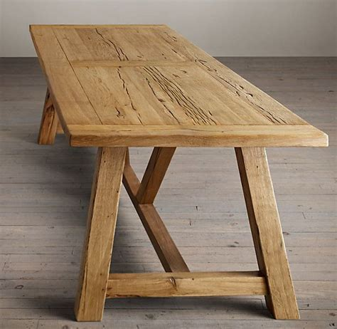Reclaimed Oak Dining Tables 17 Best Ideas About Trestle Dining Tables On Diy Dining Table Dinning Room Tables